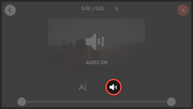 the audio icon used to adjust levles and turn audio on and off